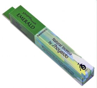 Shoyeido Japanese Incense - Magnifiscents Jewel Series - Emerald - 30 Sticks